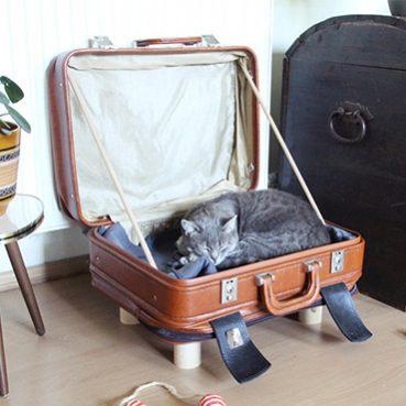 DIY Koffer Katzenbett