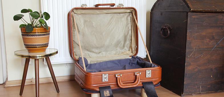 DIY Katzenbett aus Koffer