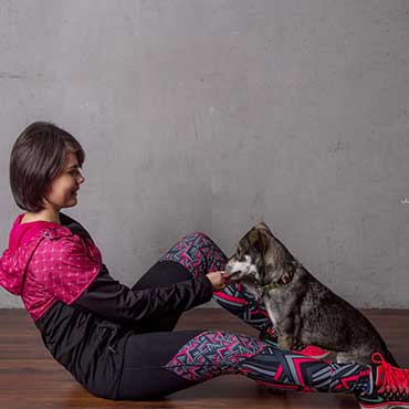 Einfacher Sport mit Hund